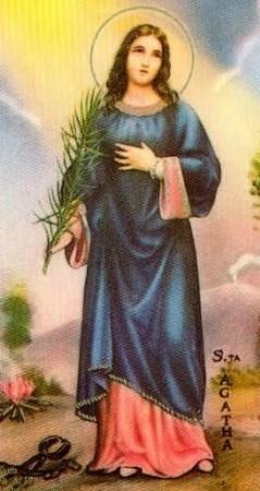 Saint Agatha Prayer Card