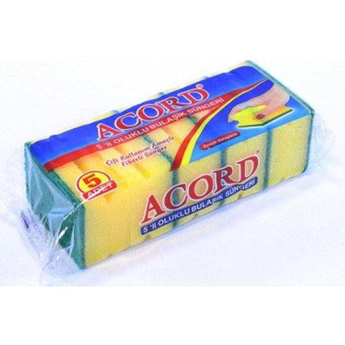 Acord 5 'li Oluklu Bulaşık Süngeri