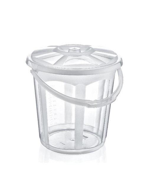 Dünya Plastik Şeffaf Kova 19.5 Lt