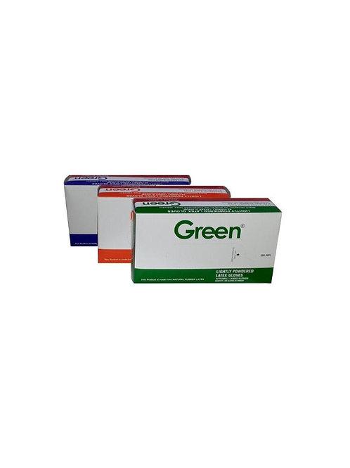Green Pudralı Lateks Eldiven