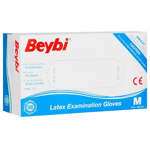 Beybi Nitril Mavi Eldiven 100'lü Paket