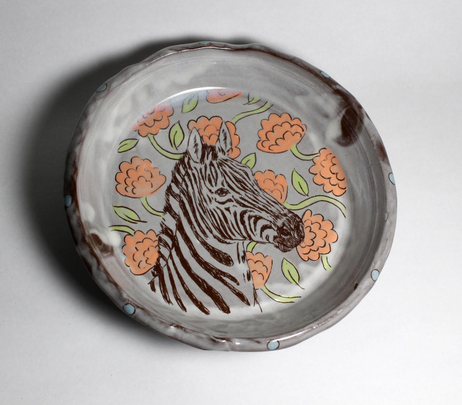 zebra lunch plate