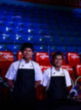 Alfonso's chefs at the event venue