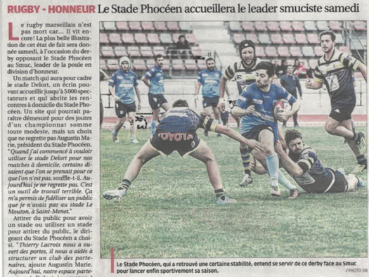 La Provence - Le Stade Delort écrin du derby marseillais