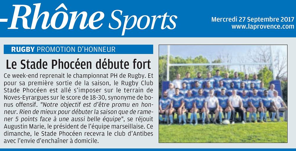 RC Stade Phoceen - Séniors