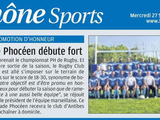 """La Provence - """"Le Stade Phocéen débute fort"""""""