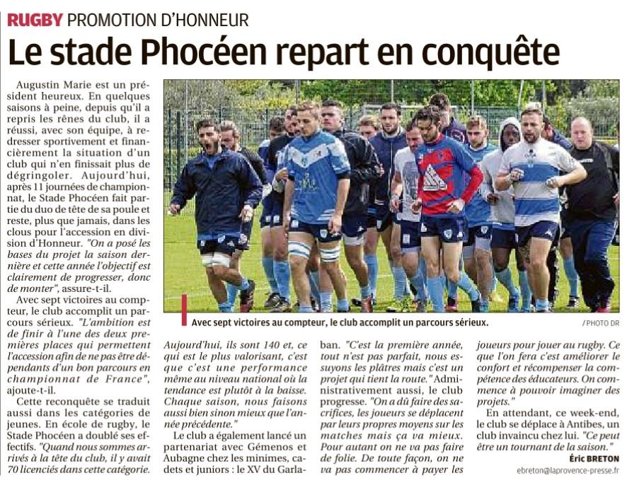 rc stade phocee - La provence 18-01-2018