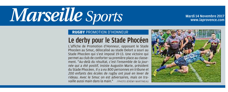 RC Stade Phocéen - La Provence 14 11 2017