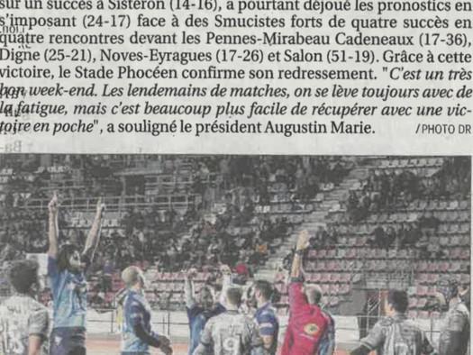 La Provence - Honneur : le Stade Phocéen remporte le derby