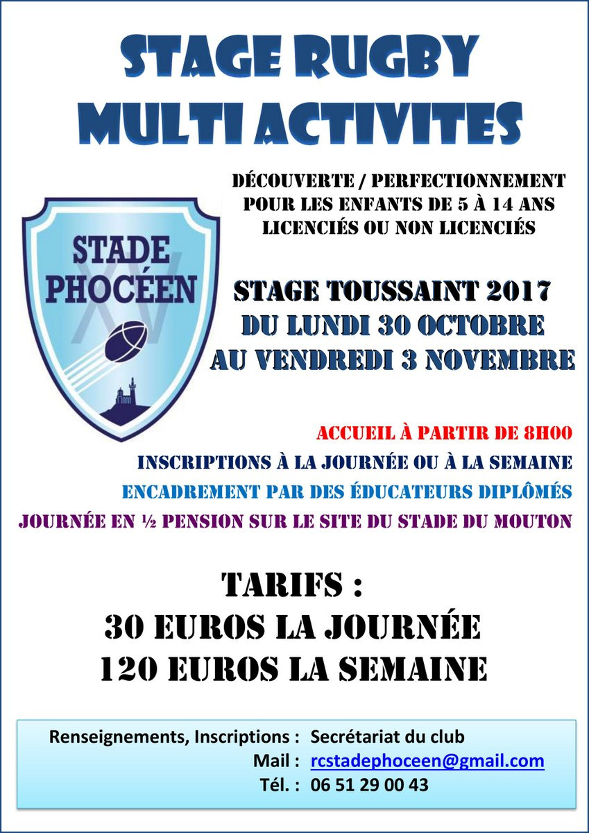 RC Stade Phoceen - Stage Toussaint 2017