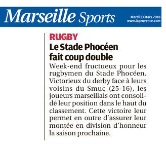 RC Stade phoceen Provence-13 mars 2018
