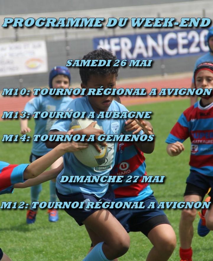 Programme du week-end - RC Stade Phoceen