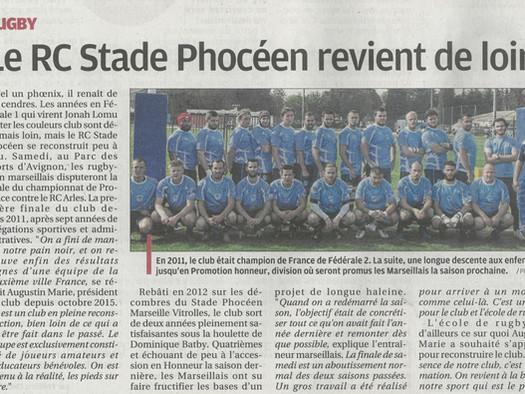 Le RC Stade Phocéen revient de loin - LaProvence