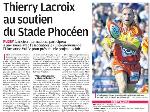 La Provence - Thierry Lacroix au soutien du Stade Phocéen