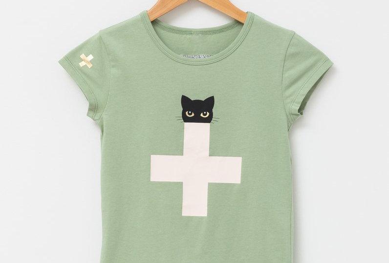 Stella & Gemma Kids Mini Eden T Shirt Sherbet Cat