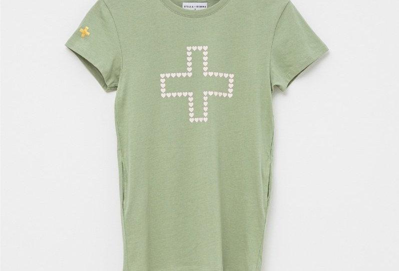 Stella & Gemma Kids Mini Lola Dress Sherbert Green Heart