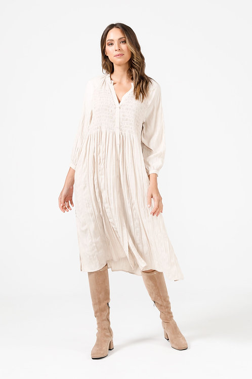 Dakota Dress in Ecru