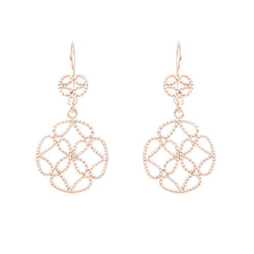 Carmesí Rose Gold Earrings