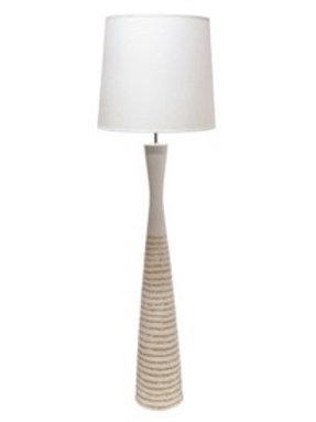 SAVANAH POLYRESIN FLOOR LAMP - WHITE
