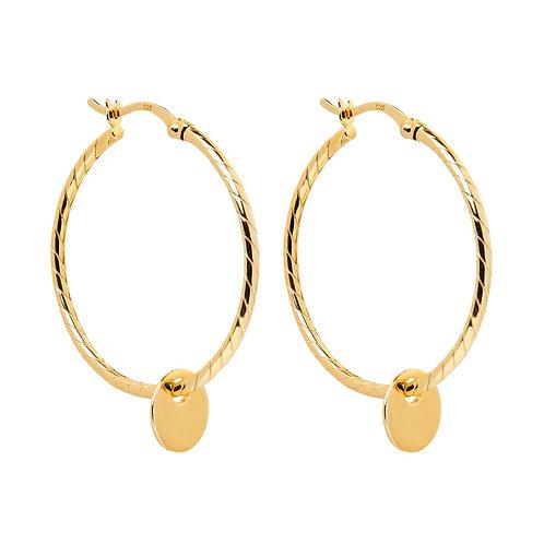 Cayman Hoop Gold Earring