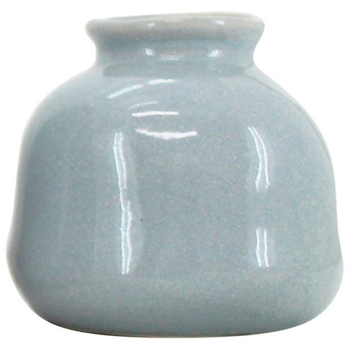Ceramic Vessel Light Blue 10.5x10