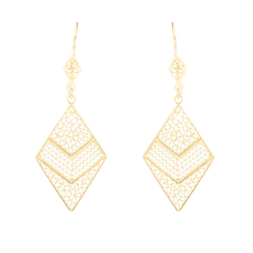 Cardenillo Yellow Gold Earring
