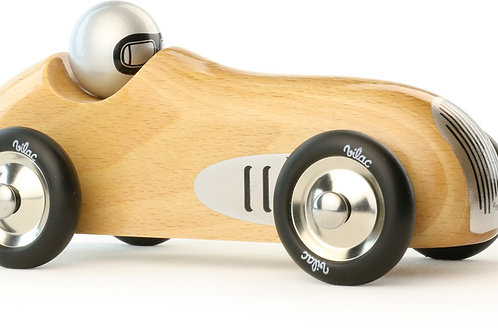 NATURAL WOODEN TOY SPORT CAR