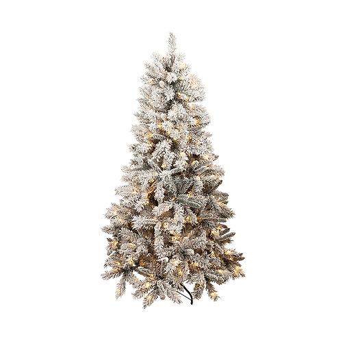THREDBO PVC FLOCKED TREE W/260 LED 180CM