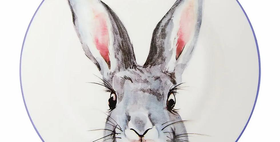 Ceramic Plate – Bunny – Blue