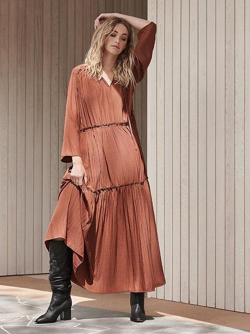 Layerd  Lange Dress Rust