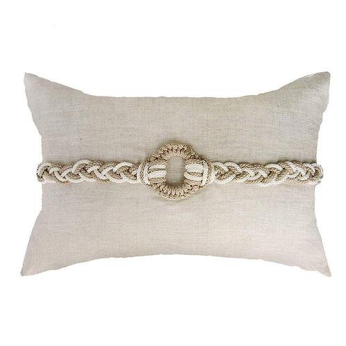 Knot Rope Beige Cream Lumber Cushion 35 x 53 cm