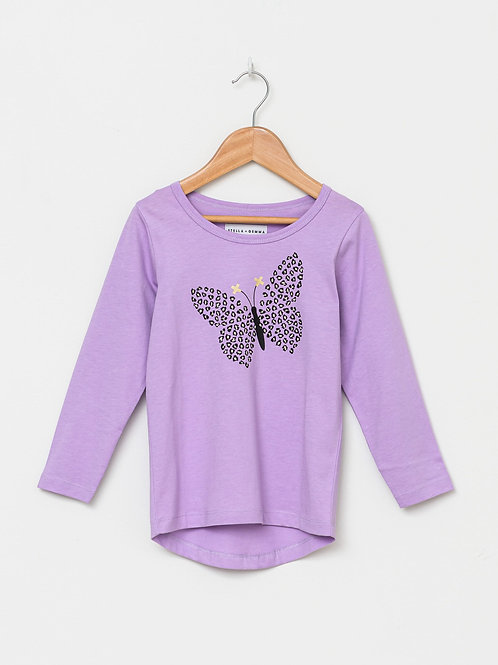 LILAC BUTTERFLY LILY LONG SLEEVE TEE