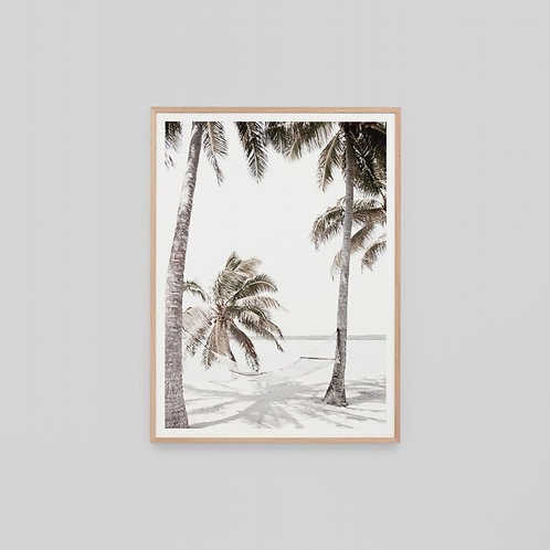 Island Hammock Framed Canvas by Middle of Nowhere