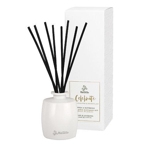 Celebrate • Vanilla & Patchouli Fragrance Diffuser Set