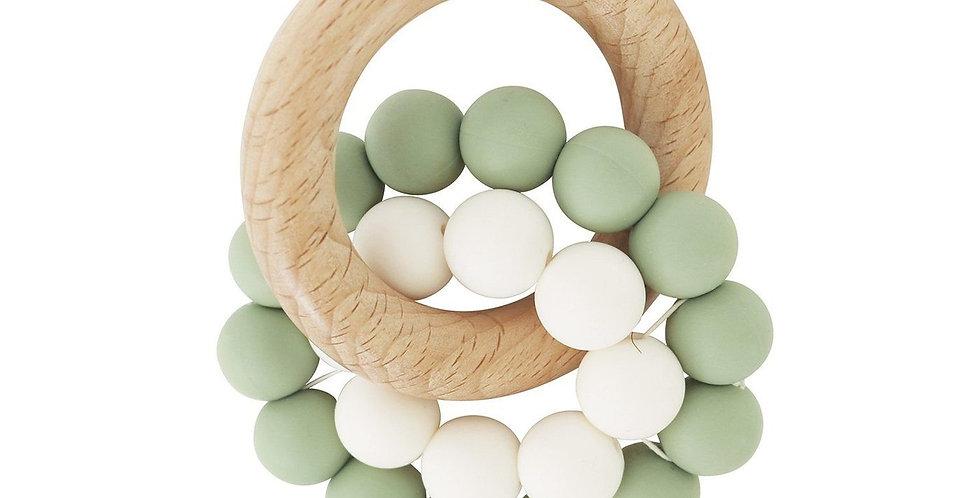 Sage | Eco-Friendly Teether | Organic Beechwood Silicone Toy