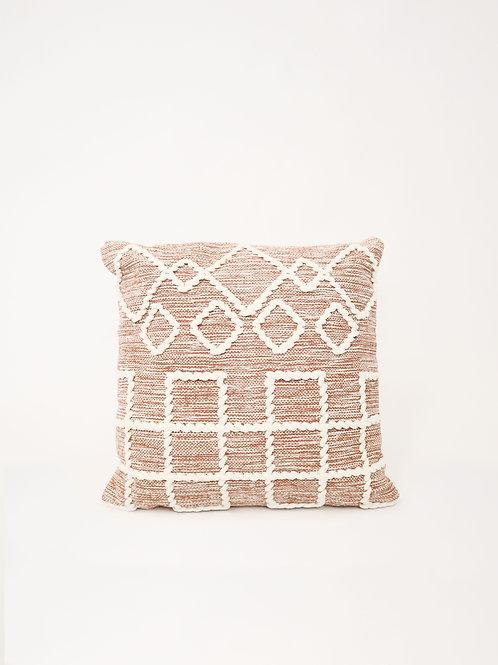 Jigsaw Cushion - Rust