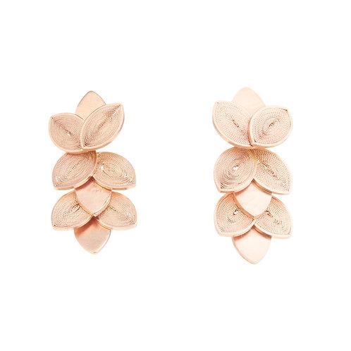 Granate Rose Gold Stud Earrings