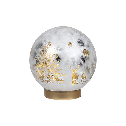 GLASS BALL WITH CHAMPAGNE GOLD CRUST