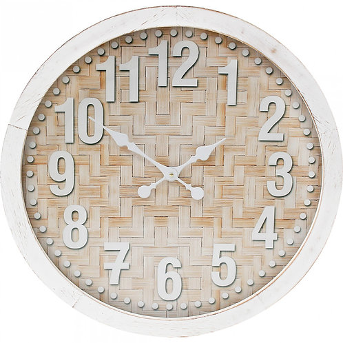 Clock Bamboo Framed