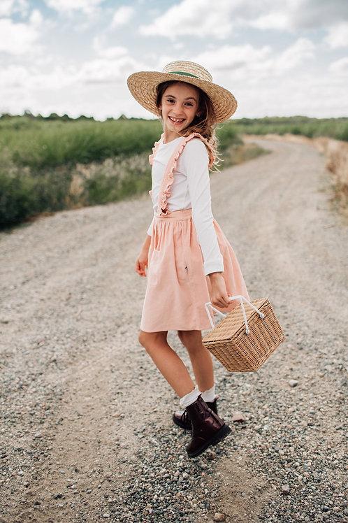 Minouche - Ava Pinafore Skirt - Pink