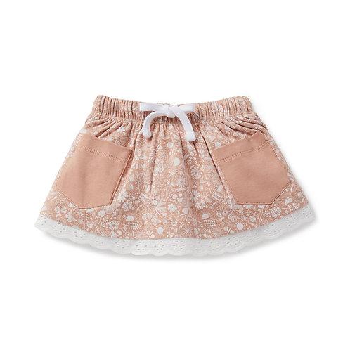 Aster & Oak Organic Cotton - Ditzy Floral Pocket Skirt