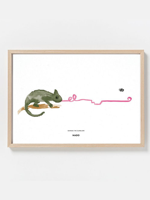 PAPER COLLECTIVE CHARLIE THE CHAMELEON PRINT