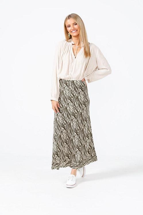 Carrington Skirt - Olive Willow