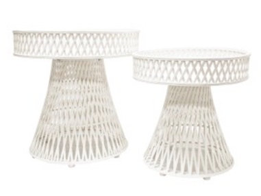 S2 LINK RATTAN TABLES - WHITE