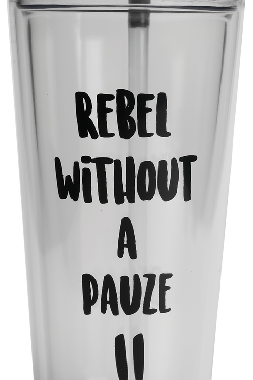 REBEL WITHOUT A PAUSE TAKE AWAY CUP