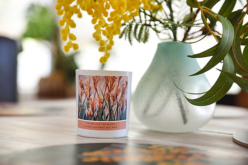 Artisan Coconut Soy Candle - Relaxation Blend