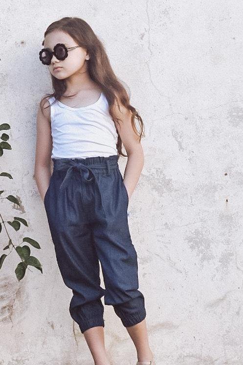 Charlotte paper-bag waist pants