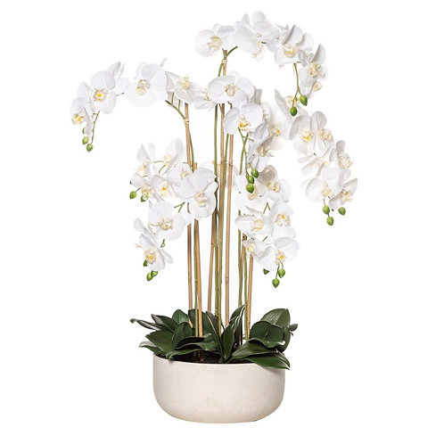 BUTTERFLY ORCHID-STONE BOWL