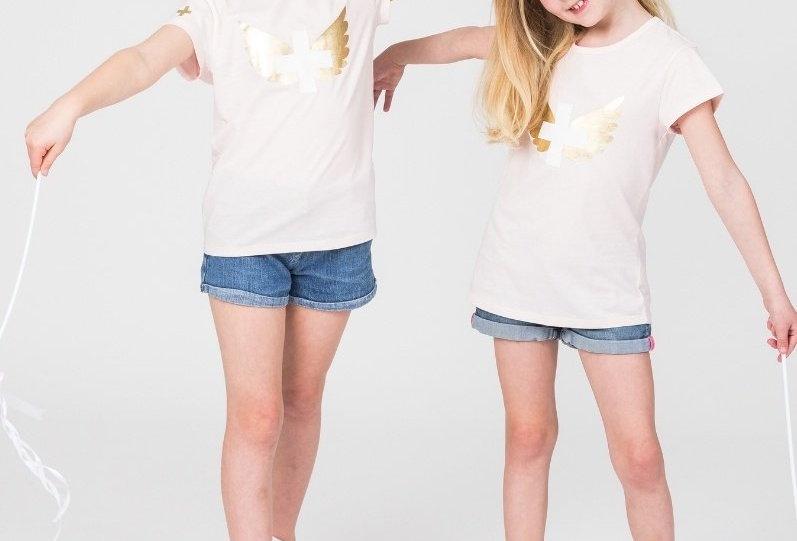 Stella & Gemma Kids Mini Eden T Shirt Rose Wings