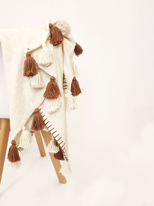 Spice Throw - Rust & Natural